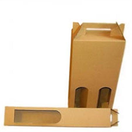 b208ae8ad0 Papierová škatuľa na víno s hladkým uchom
